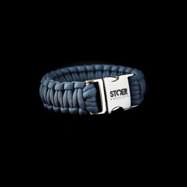 Stoer Armbanden STOER Paracord armband Navy cobra XL