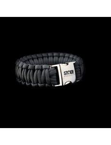 Stoer Armbanden STOER Paracord armband Antraciet cobra XL