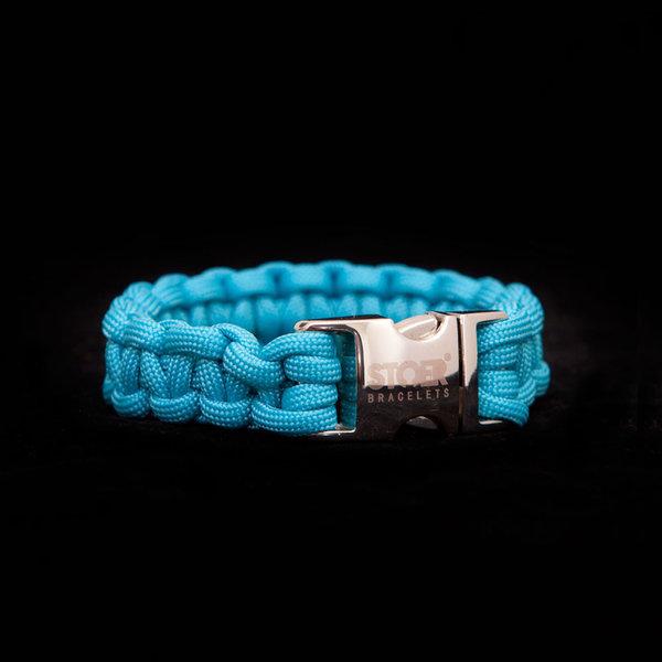 Stoer Armbanden STOER Paracord armband Turquise
