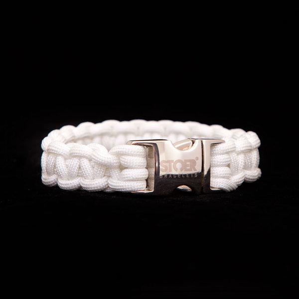 Stoer Armbanden STOER Paracord armband Wit