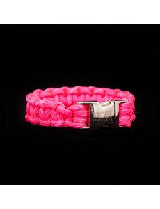 Stoer Armbanden STOER Paracord armband Neon Roze