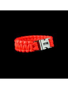 Stoer Armbanden STOER Paracord armband Oranje