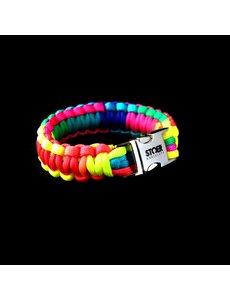 Stoer Armbanden STOER Paracord armband Rainbow