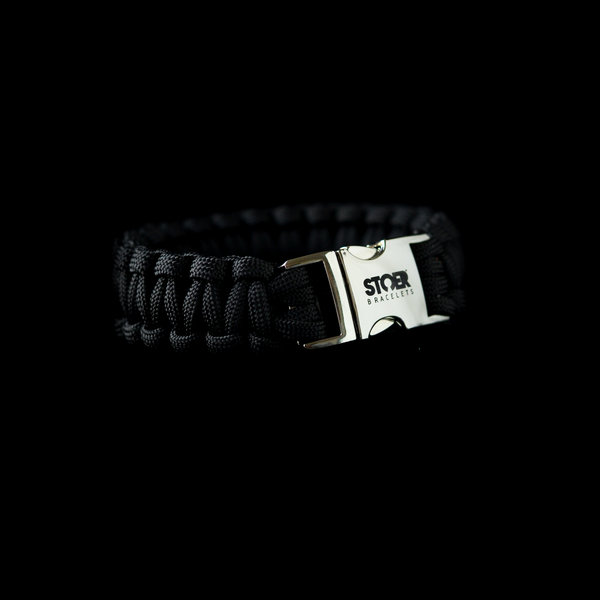 Stoer Armbanden STOER Paracord armband Zwart