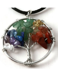 Ketting Tree of life colourful small