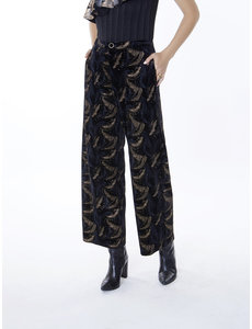 Meisie Meisïe - Velvet broek zwart