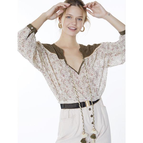 Meisie Meisïe - Bohemian blouse groen