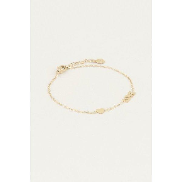 My Jewellery My Jewellery Armband met love en hartje
