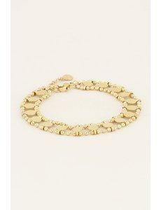 My Jewellery My Jewellery Armbandje dubbel muntjes