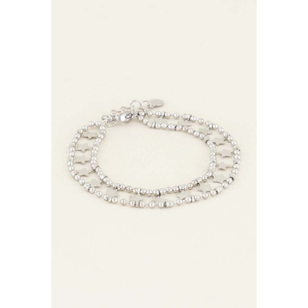 My Jewellery My Jewellery Armbandje dubbele muntjes & sterren