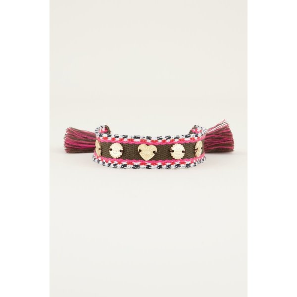 My Jewellery My Jewellery Bohemian armband met bedeltjes bruin