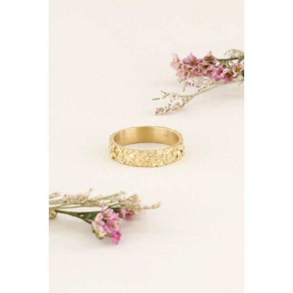My Jewellery My Jewellery Brede ring bloemetjes
