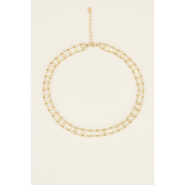 My Jewellery My Jewellery Choker dubbele muntjes & sterren