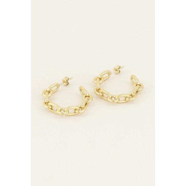 My Jewellery My Jewellery Oorringen grove schakels