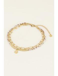 My Jewellery My Jewellery Drielaags enkelbandje