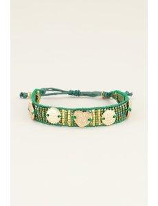 My Jewellery My Jewellery Groene armband bedels & kraaltjes