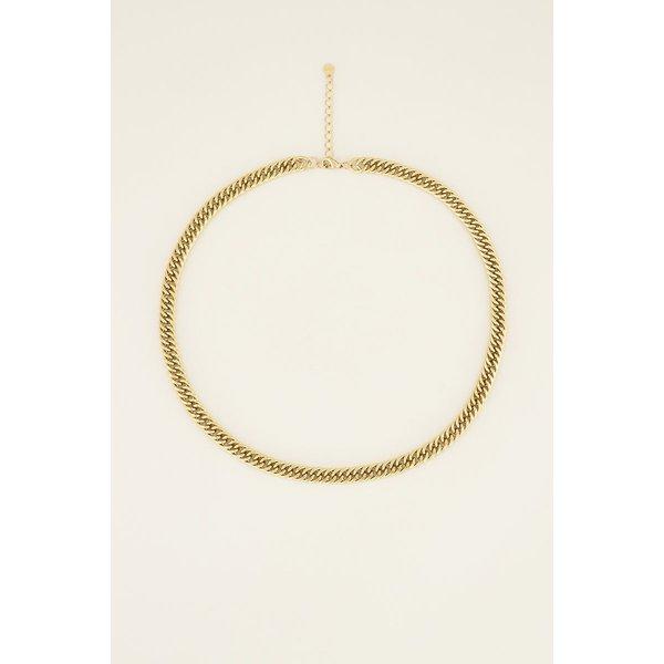 My Jewellery My Jewellery Ketting brede schakels (maat L)