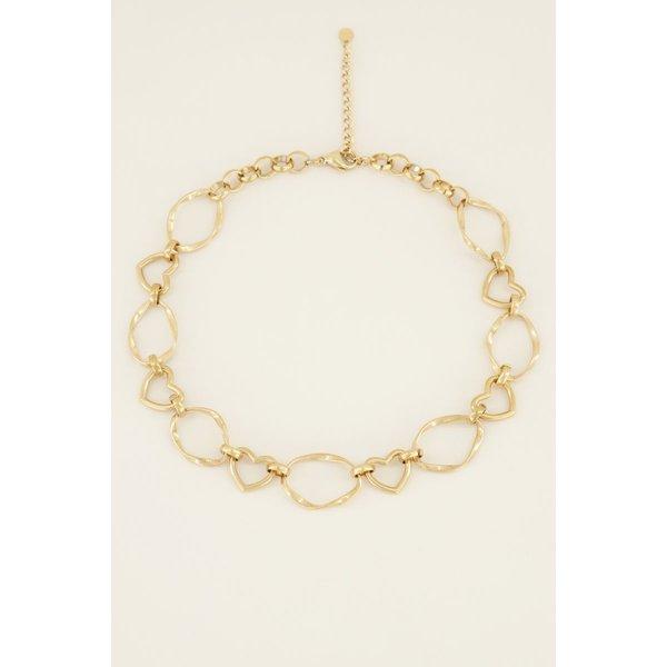 My Jewellery My Jewellery Ketting open hartjes