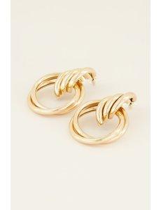 My Jewellery My Jewellery Oorhangers met grote ringen
