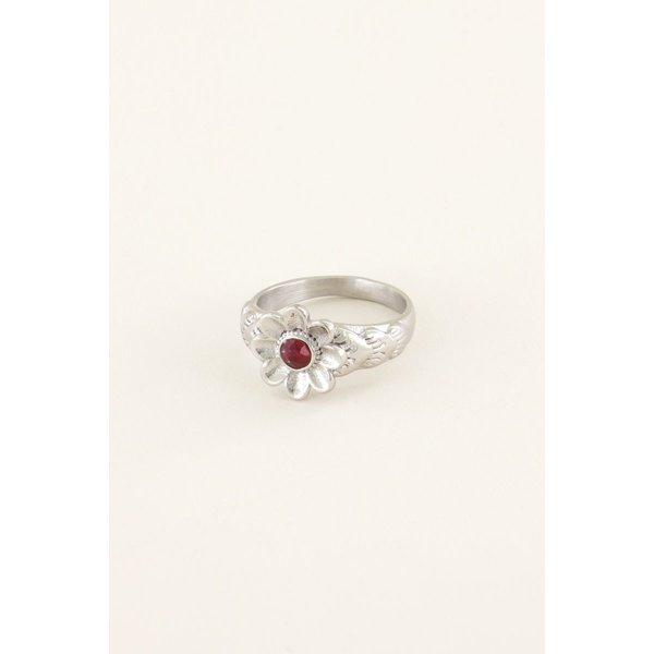 My Jewellery My Jewellery Ring bloem & steentje
