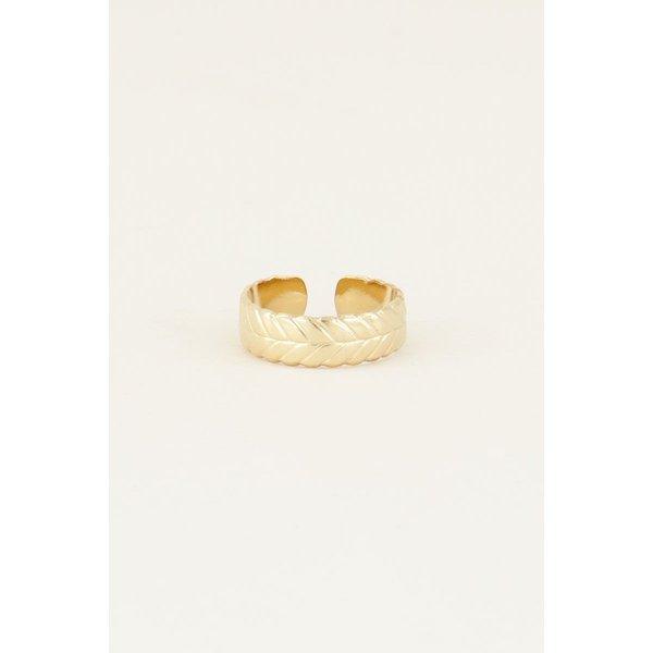 My Jewellery My Jewellery Ring met gevlochten patroon