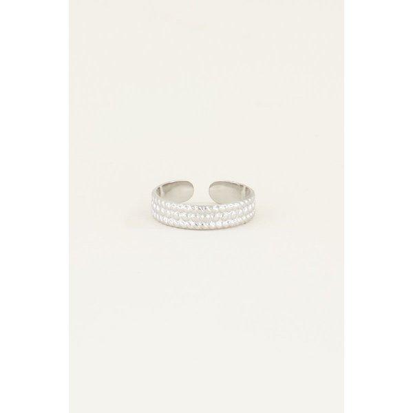 My Jewellery My Jewellery Ring met bolletjes patroon