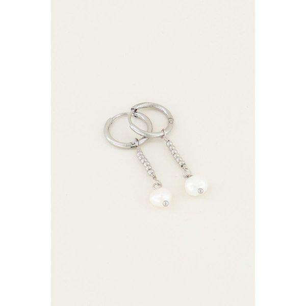 My Jewellery My Jewellery Parel oorbellen met hanger