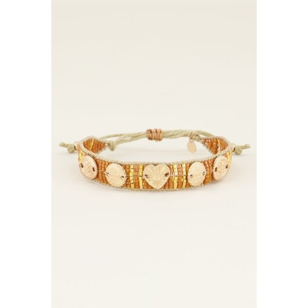 My Jewellery My Jewellery Oranje armband bedels & kraaltjes