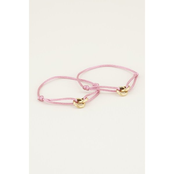 My Jewellery My Jewellery Roze forever connected armband