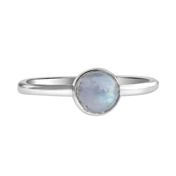 Happy Hippies Happy Hippies Ring Stackable Moonstone  sterling zilver