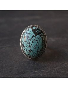 Happy Hippies Happy Hippies Ring Turquoise zilver 16mm