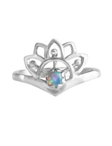 Happy Hippies Happy Hippies Ring Sunshine opaal sterling zilver