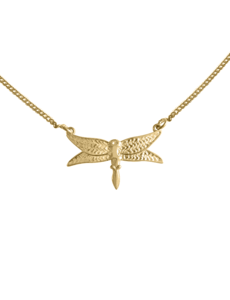 Happy Hippies Happy Hippies ketting Dragonfly goud