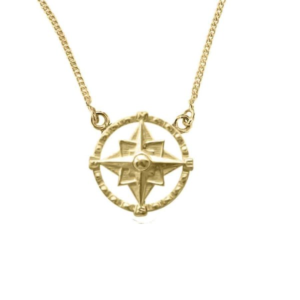 Happy Hippies Happy Hippies ketting Compass goud
