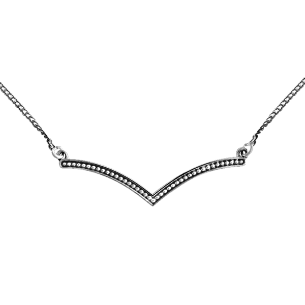 Happy Hippies Happy Hippies ketting beaded Chevron sterling zilver