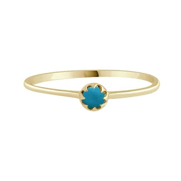 Happy Hippies Happy Hippies Ring tiny turquoise goud