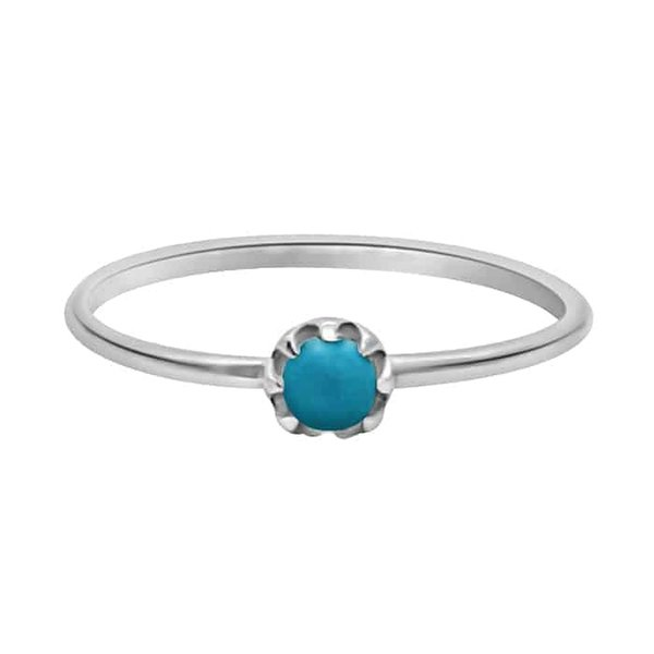 Happy Hippies Happy Hippies Ring tiny turquoise zilver