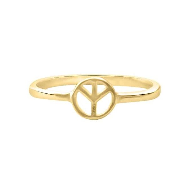 Happy Hippies Happy Hippies Ring peace goud