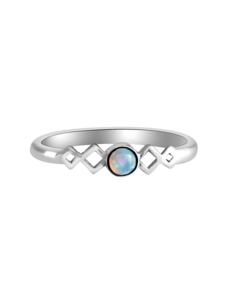 Happy Hippies Happy Hippies Ring Harmonica opal sterling zilver