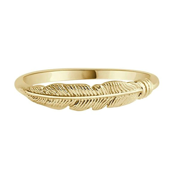 Happy Hippies Happy Hippies Ring feather goud