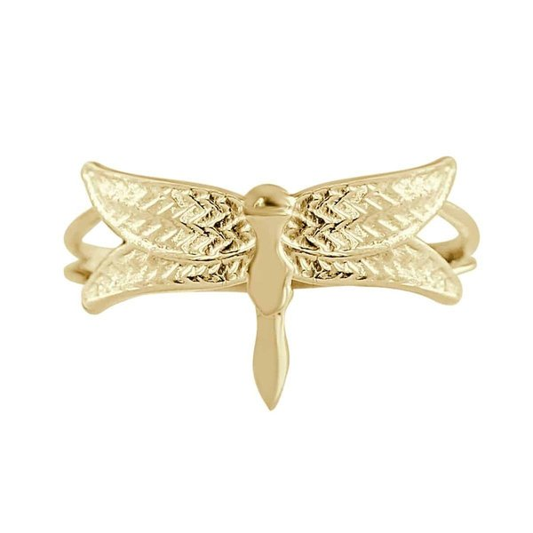 Happy Hippies Happy Hippies Ring Dragonfly goud
