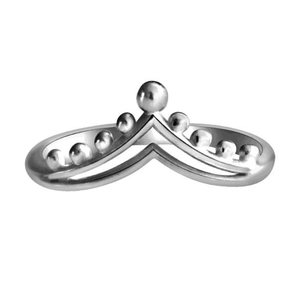 Happy Hippies Happy Hippies Ring double chevron sterling zilver