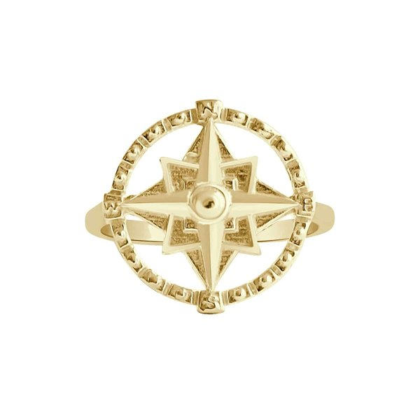 Happy Hippies Happy Hippies Ring Compass goud