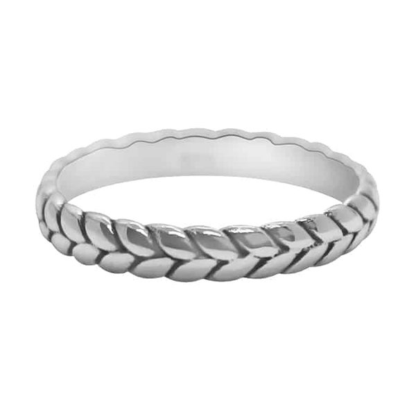 Happy Hippies Happy Hippies Ring braid sterling zilver