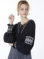 Meisie Meisïe - Zwarte blouse met pofmouwen