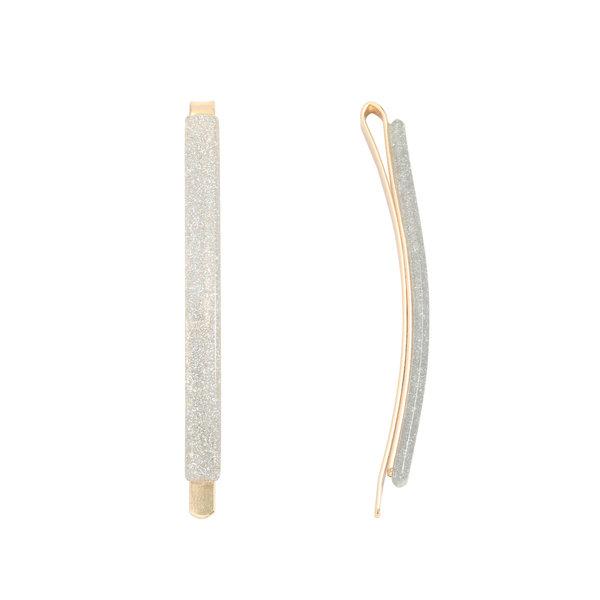 Haarclip Sparkle (Gold & Silver Metal Plastic)