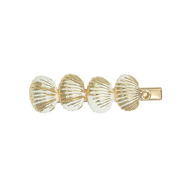 Haar Clip Summer Shells - Goudkleurig