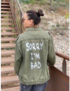 Banditas Banditas Groen jasje Sorry i'm bad