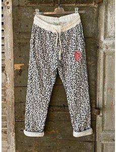 Banditas Banditas Jogging leopard - wit