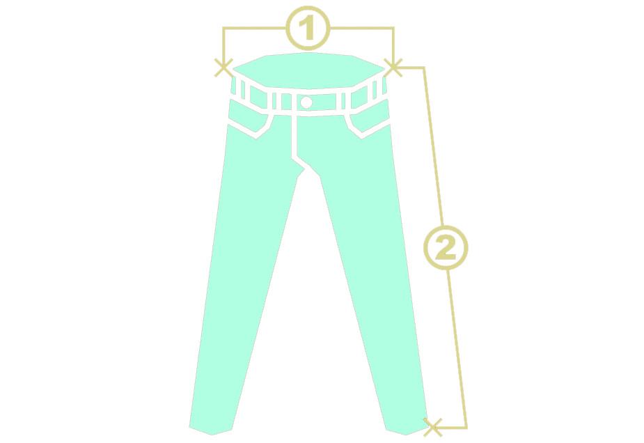 Maattabel Chenaski broeken